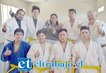 LOS ANFITRIONES.- Aquí tenemos a parte de la delegación anfitriona de Judo de nuestra comuna, los judocas del Assunta Pallota.