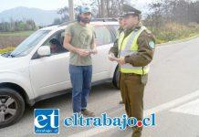 Previo a las fiestas, Carabineros realizó una intensa campaña entregando información preventiva a los conductores.