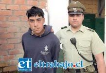 El antisocial de 19 años de edad fue detenido dos veces por Carabineros tras la Comisión de robos ocurridos en menos de 24 horas en la comuna de Llay Llay.