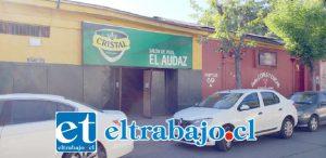 El salón de pool 'El Audaz' se ubica en calle Portus Nº 69 en San Felipe. Desde este lugar fue detenido un sujeto de 34 años de edad por el delito de robo en lugar no habitado en grado de frustrado.