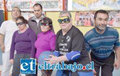 CÓNDORES DE VERDAD.- Aquí tenemos a los deportistas del Club Deportivo Cóndores de Aconcagua, entrenando ayer de cara a la Semifinal del sábado.