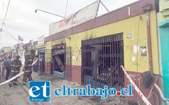 El fuego afectó al local de abarrotes 'La Distribuidora' ubicado en avenida Balmaceda de la comuna de Llay Llay, cuyas pérdidas son totales.