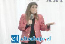 La expresiva y destacada psicóloga, escritora y conferencista Pilar Sordo, basó la charla en su propia experiencia.