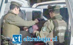 Carabineros efectuó la fiscalización vehicular el pasado 22 de abril del 2017, incautando las especies reportadas por robo en Los Andes. (Foto Archivo).