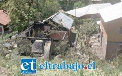 Fiscalía inició una investigación por estos hechos ocurridos al interior de un inmueble en la localidad de Río Blanco, el que resultó totalmente destruido por el fuego.