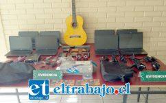 Carabineros logró recuperar la totalidad de las especies tecnológicas de propiedad de la Universidad de Playa Ancha sede San Felipe, avaluadas en seis millones de pesos.