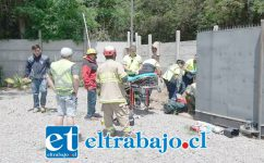 Pasado el mediodía de este 31 de octubre Bomberos rescató a la pequeña niña desde un canal de regadío en el sector El Chepical de Santa María. (Fotografía: Emergencias Santa María).