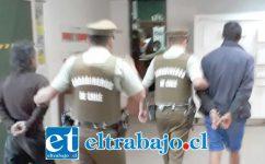 Los detenidos fueron capturados por Carabineros de Catemu por el delito de robo con violencia ocurrido la madrugada de este lunes.