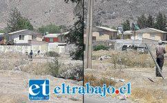 El cuerpo fue hallado al mediodía de este sábado en un sitio eriazo ubicado en Calle Tacna Norte esquina Diego de Almagro. (Fotografías: Emergencia V Cordillera).