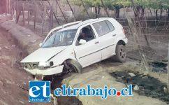 El accidente ocurrió la tarde noche de este viernes en la Ruta 60 CH cercano al sector Tres Esquinas de San Felipe.