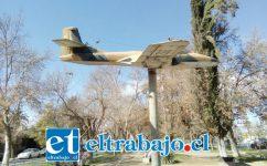 Este es el avión que definitivamente será llevado a la base aérea El Bosque de la FACH, según informó la concejala Patricia Boffa.