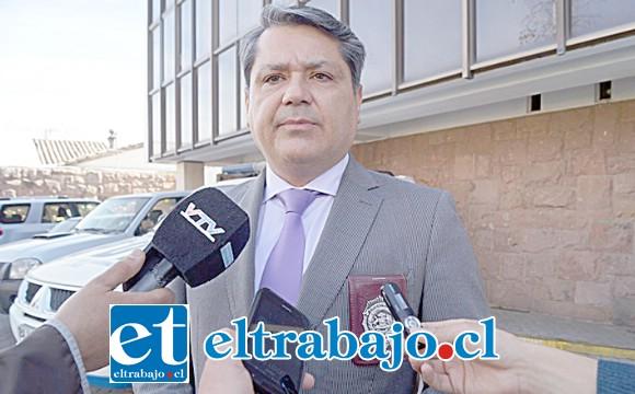 Jefe de la Brigada de Homicidios de la PDI de Los Andes, Subprefecto Gino Gutiérrez Cáceres.