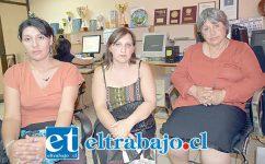 Paola Zamora la exmujer del fallecido, la hermana Sandra Zamora y la mamá de Paulo César Zamora Silva, doña María Inés Silva, visitaron nuestra Sala de Redacción.