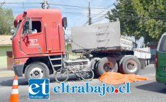 El fatal accidente ocurrió cerca de las 11:00 horas de la mañana de ayer lunes en la intersección de avenidas Manso de Velasco y Tacna Sur en San Felipe. (Fotografías: Roberto González Short).