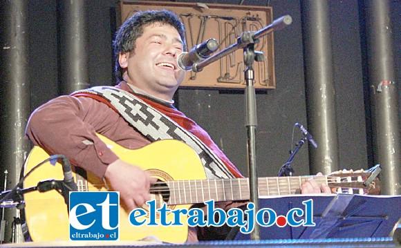 GRANDE JULIO.- El compositor y cantante aconcagüino Julio Quijanes Villarreal hará de las suyas, pues él y sus colegas abrirán la jornada.