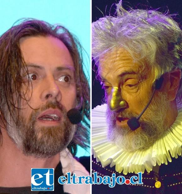 GIGANTES.- Los actores chilenos Francisco Reyes y Néstor Cantillana en los papeles de Tycho Brahe y Johannes Kepler, lograron con maestría transporta al público al año 1.600.