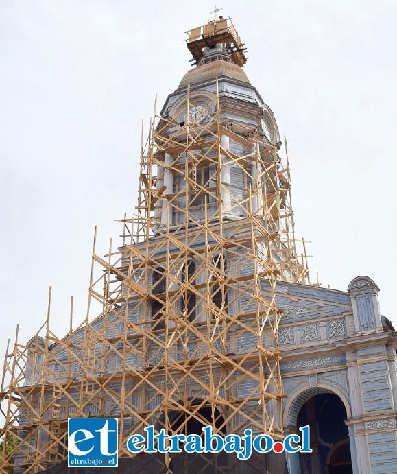 EN REPARACIONES.- Así luce actualmente la parroquia San Antonio de Padua, pero muy pronto su aspecto será otro.