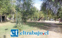 Esta es la plazoleta de Villa Aconcagua, la cual se presta para todo...