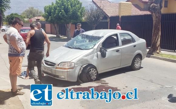 El accidente ocurrió en Calle Manuel de Lima de Villa Carmen y Dolores de San Felipe.