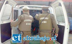 El imputado fue detenido por Carabineros de la Subcomisaría de Llay Llay la tarde de este domingo. (Foto Archivo).