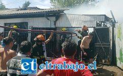 El fuego afectó a dos viviendas, pero afortunadamente pudo ser controlado por Bomberos.