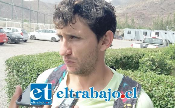 José Martínez se integró ayer al plantel albirrojo.