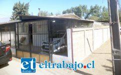 La casa de la afectada ubicada en el pasaje Alcalde Adolfo Stemann de la Población San Felipe.