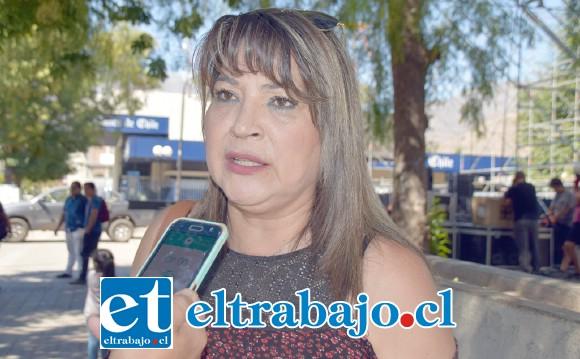 Ruth Delgado, presidenta de la UNCO de juntas de vecinos de San Felipe.