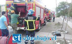 El amago de incendio ocurrió la tarde de ayer lunes en la Villa El Totoral. (Fotografías: José Claudio Fernández).