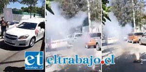 Durante una transmisión en vivo vía internet de uno de los asistentes al cortejo fúnebre, entre bocinazos y lanzamiento de fuegos de artificiales frente a la cárcel de San Felipe, fue despedida la joven fallecida este fin de semana.