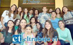 SUERTE CHIQUILLOS.- Parte del grupo ya funcionando en Aconcagua de FFF San Felipe, visitaron ayer Diario El Trabajo para invitar a nuestros lectores a unirse a esta iniciativa de resonancia mundial.
