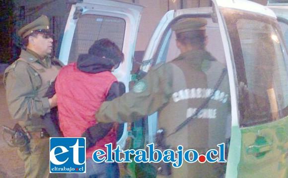 Carabineros capturó a los imputados que fueron sometidos a juicio en el Tribunal Oral en Lo Penal de San Felipe. (Foto Archivo).