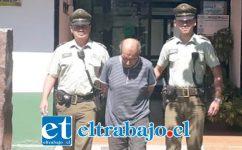 El imputado de 56 años de edad fue capturado ayer martes por Carabineros de la Tenencia de Santa María.