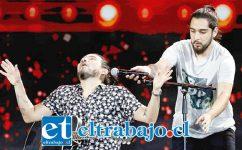 GIGANTES.- Electrizante show ofrecieron Felipe Avello y Danilo Carrasco, Viña los premió, esto hay que repetirlo.