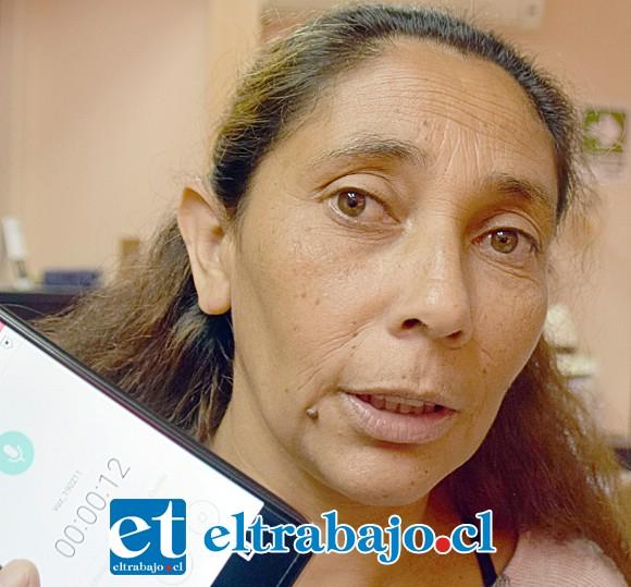 Ingrid Ferrer, putaendina que debe desalojar la vivienda que Serviu entregó a su padre en vida.