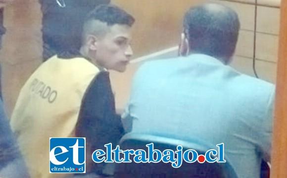 El imputado apodado 'El Peruano' fue formalizado ayer en el Juzgado de Garantía de San Felipe quedando en prisión preventiva.