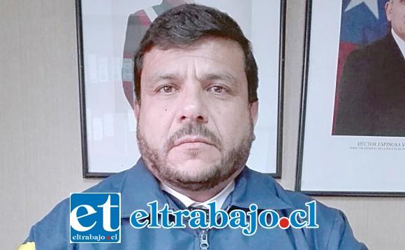 Ernesto León, jefe de la Brigada de Delitos Sexuales y Menores de la PDI de Los Andes.