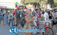 MARCHA EN SAN FELIPE.- Cerca de 600 personas del Valle de Aconcagua marcharon desde Avenida Chacabuco hasta la Plaza de Armas de San Felipe, en total la jornada casi fue de cuatro horas.
