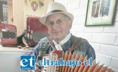 Alejandro Chocaír, artista y uno de los organizadores de la peña.