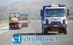 MÁS ANCHA.- A 30 metros de ancho y con base granulada está siendo ampliada la pista de aterrizaje del Aeródromo Víctor Lafón de San Felipe. La obra será terminada el 8 de marzo.