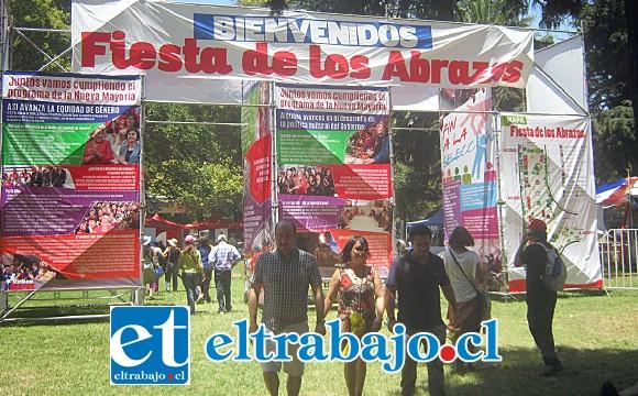 La primera Fiesta de los Abrazos a realizarse en la zona pretende replicar la que se realiza todos los años a nivel central en el Parque O'Higgins en Santiago.