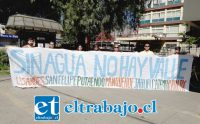 Representantes de los agrupaciones ambientalistas de Aconcagua en convocatoria a marchar por la defensa del agua este día sábado.