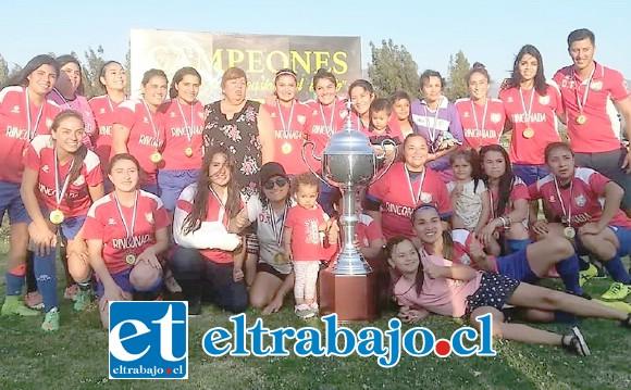 Tras golear a Valparaíso, la selección de Rinconada de Los Andes se convirtió en el campeón Regional de Fútbol Femenino.