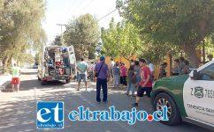 La víctima fue un niño de 9 años de edad, quien permanece internado en la unidad de Traumatología del Hospital San Juan de Dios de Los Andes.