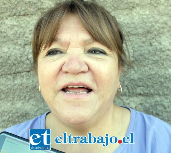 Gladys Bruna, vecina que ha presionado para que este problema tenga una solución pacífica.