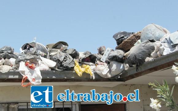 ¿QUIÉN INTERVENDRÁ?- Las bolsas de basura también están en el techo, los olores y roedores afectan también a los vecinos.
