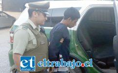 El antisocial apodado 'El Chupa' fue capturado por Carabineros de la Subcomisaría de Llay Llay.