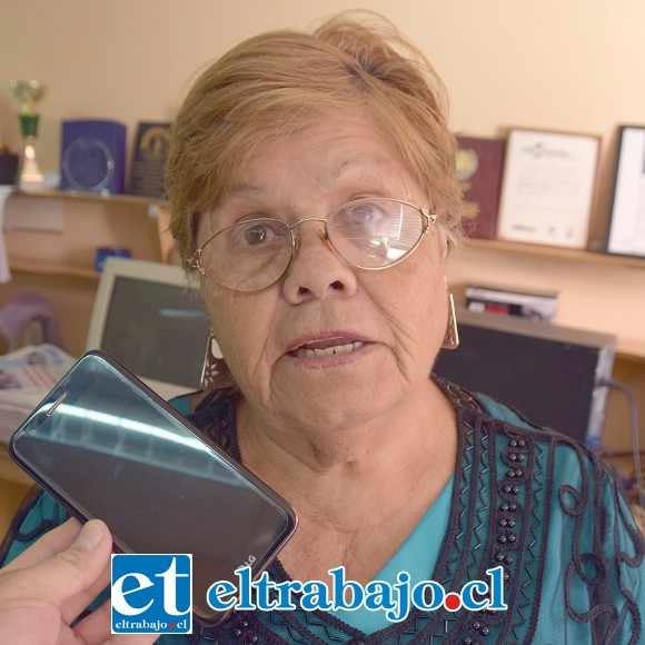 Miryams González Guzmán, abuela del joven estudiante.