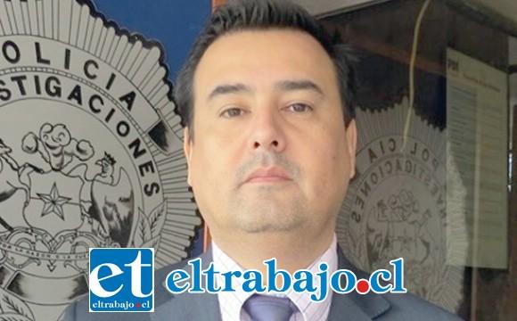 Jefe de la Brigada de Robos de la PDI de Los Andes, comisario Germán López.