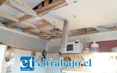 Daños de consideración se originaron tras la fuerte explosión dentro del domicilio.